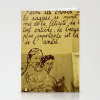 French Graffiti in Paris Stationery Cards