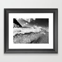 Shore Break Framed Art Print