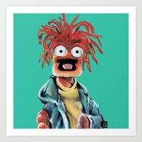 Pepe The King Prawn Art Print