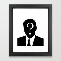 Man Without A Face Illus… Framed Art Print
