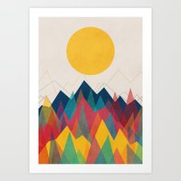 Uphill Battle Art Print
