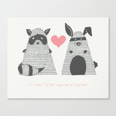 Partner in Crime Canvas Print