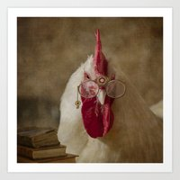 Rooster -The Professor Art Print