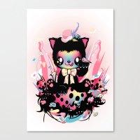 Lucky Kitty Canvas Print