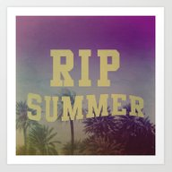 Art Print featuring RIP Summer by Leah Flores