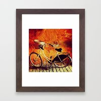 Yellow Cycle Framed Art Print