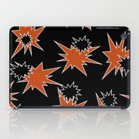 Stars (Orange & Black on Black) iPad Case