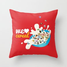 We Love Cereal Throw Pillow