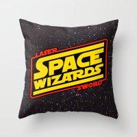 LASER SWORD SPACE WIZARDS Throw Pillow