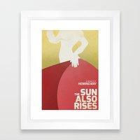 The Sun Also Rises - Fiesta - E. Hemingway Book Cover Framed Art Print
