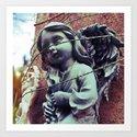 Sacrificial angel Art Print