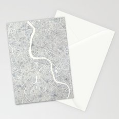 City Map London watercolor map  Stationery Cards