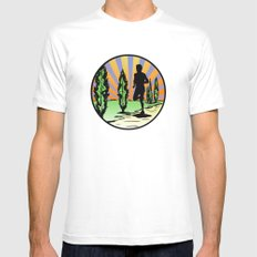 Running White Mens Fitted Tee SMALL