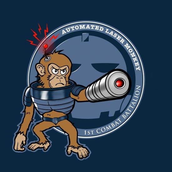 Automated Laser Monkey Canvas Print