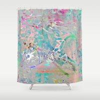Graffiti Texture Shower Curtain