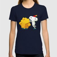 The Prince with a FEZ Womens Fitted Tee Navy SMALL