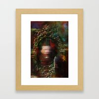 The haunted mirror Framed Art Print