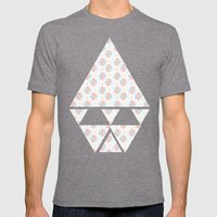 bambino Mens Fitted Tee Tri-Grey SMALL