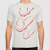 Happy Mens Fitted Tee Silver SMALL