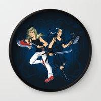 Axe Sisters Wall Clock