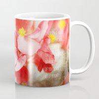 Scarlet Begonias Mug