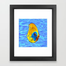 Tropical Fish on Clear Ocean Water 3D Framed Art Print