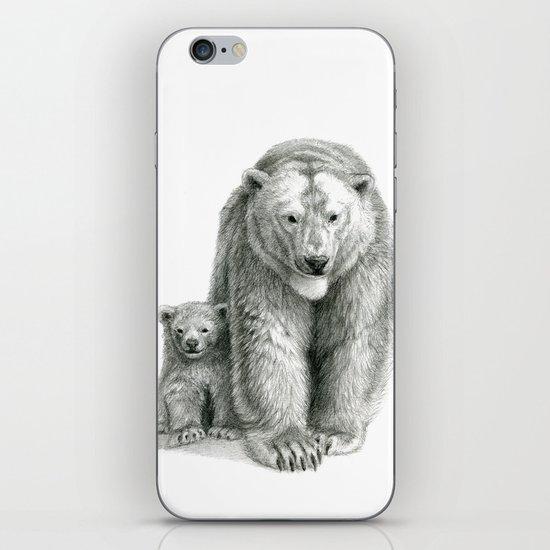 Polar bear and cub SK041 iPhone & iPod Skin