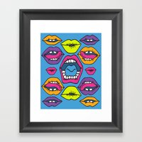 MOUTHY Framed Art Print
