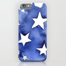 Stars Abstract Blue Watercolor Painting Slim Case iPhone 6s