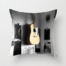 ART STUDIO - GUITAR Throw Pillow
