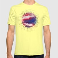 Clouds - abstract watercolor 01 Mens Fitted Tee Lemon SMALL
