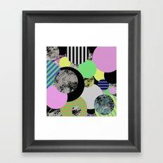 Cluttered Circles - Abstract, Geometric, Pop Art Style Framed Art Print
