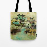 Drifting Along Tonle Sap River, Cambodia Tote Bag