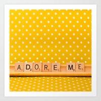 Adore Me Art Print