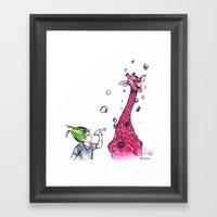 Sometimes Giraffes Want … Framed Art Print