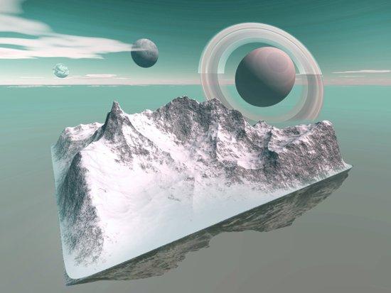 celestial horizon Art Print