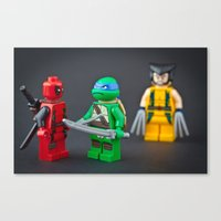 He thinks hes so cool Canvas Print