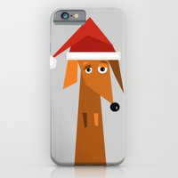 iPhone & iPod Case featuring Dachshund Ready For Christmas by They Come Along