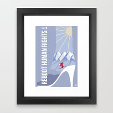 Winter games Framed Art Print