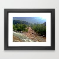 Good And Bad Things Come… Framed Art Print