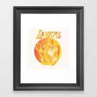 Lakers Framed Art Print