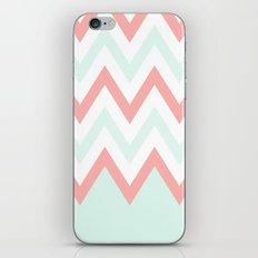 Mint & Coral Chevron (3) iPhone & iPod Skin