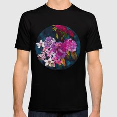 Purple Globes of Rhododendron  Black Mens Fitted Tee SMALL