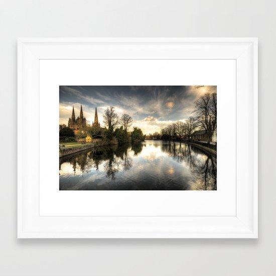 Reflections over Lichfield  Framed Art Print