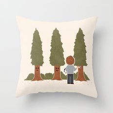 Happy Trees Throw Pillow