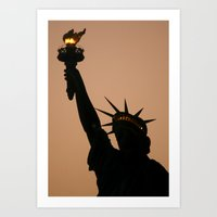 the liberty Art Print