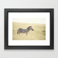 be still::kenya Framed Art Print