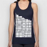 Map Black Boarder Unisex Tank Top