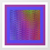 Rainbow Rectangles Art Print