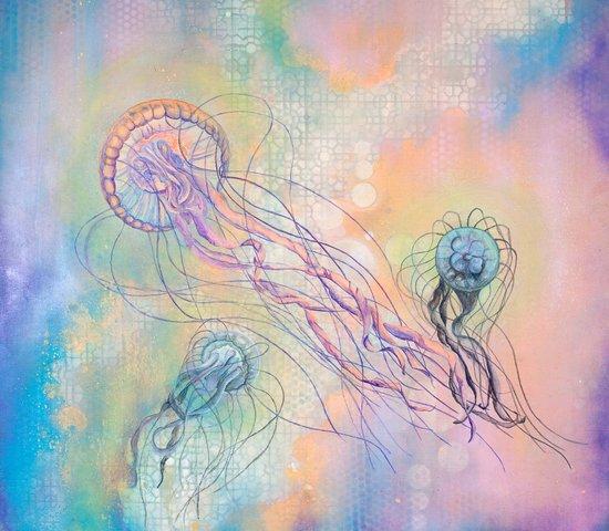 Cosmic Jellyfish Canvas Print